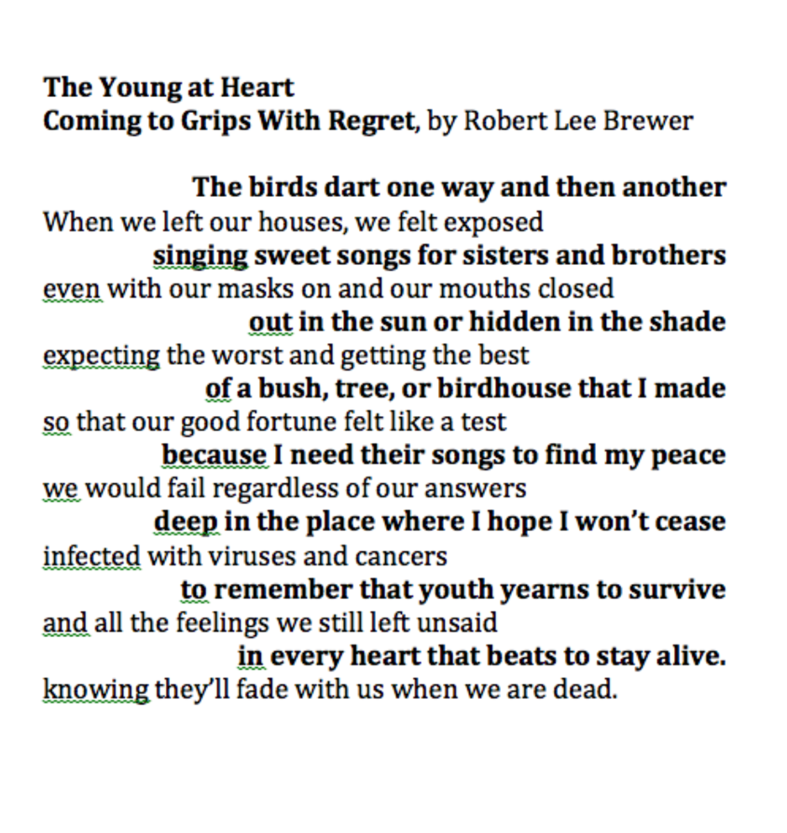Double Exposure Poetic Forms example by Robert Lee Brewer