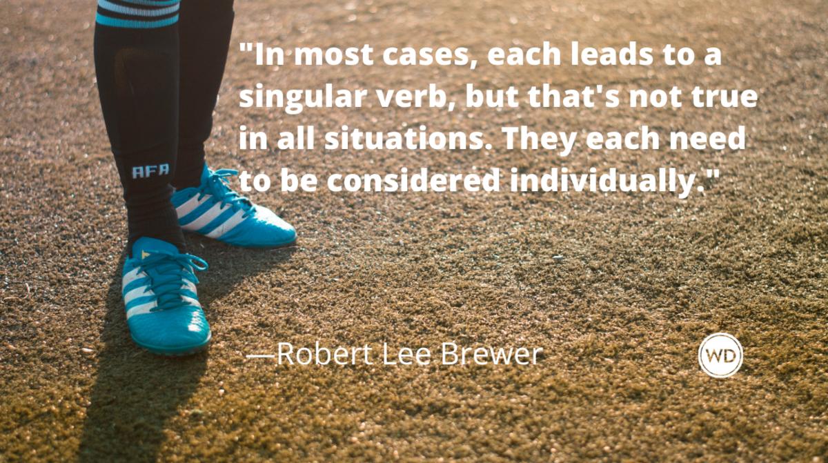 Does Each Use a Plural or Singular Verb?